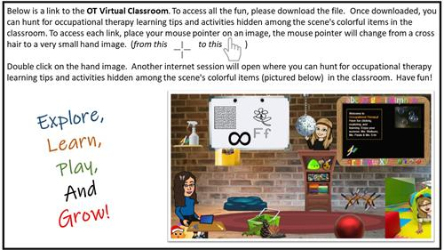 INSTRUTIONS: Virtual Occupational Therapy Classroom
