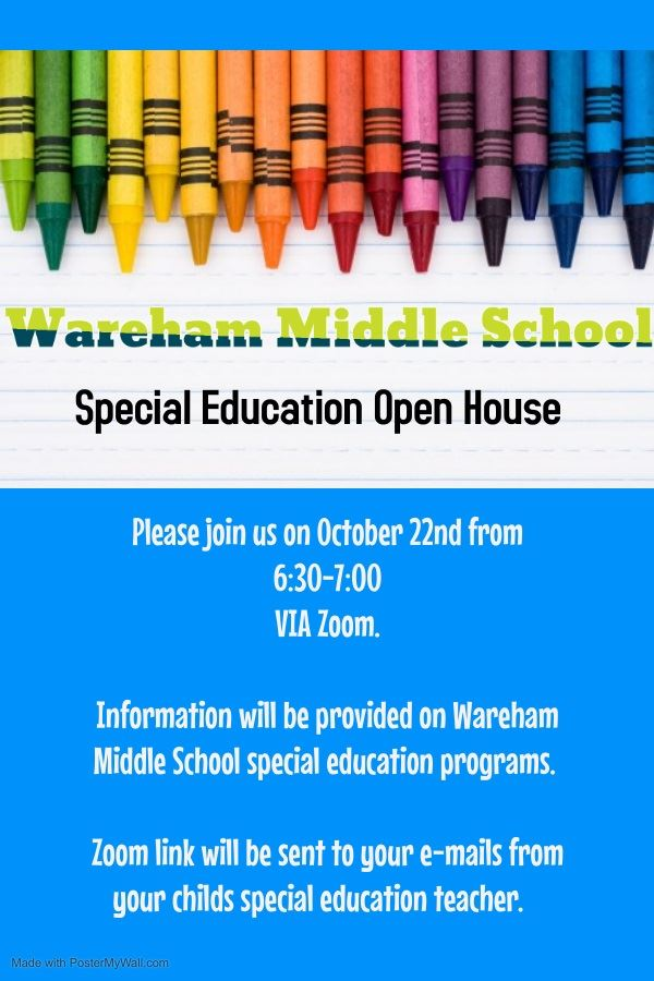 WMS Special Education Virtual Open House