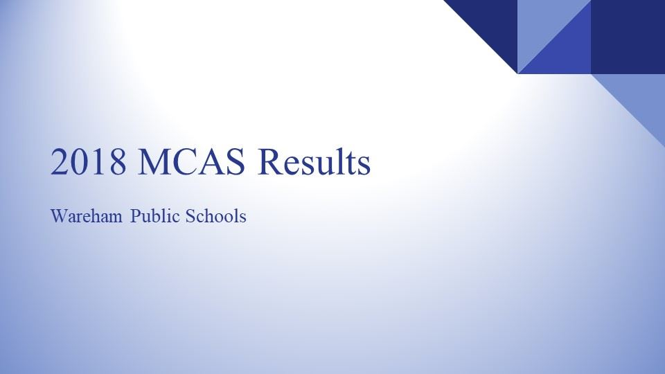 2018 MCAS Results