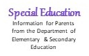 Special Education Information for Parents