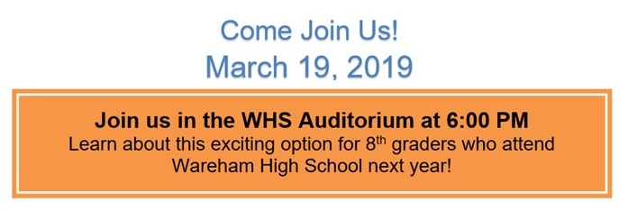 Next year 8th grade students, a very important meeting will be held on March 19, 2019.  Please plan on attending.  Click here for more information.