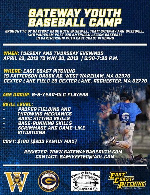 Gateway Youth Baseball Camp