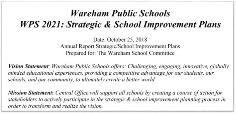WPS 2021 Strategic & School Improvement Plans