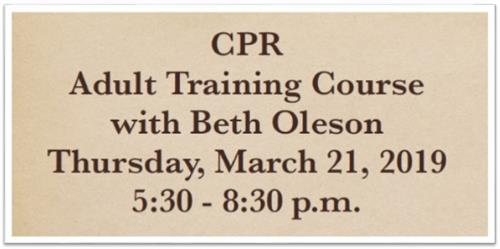 CPR Adult Training Course