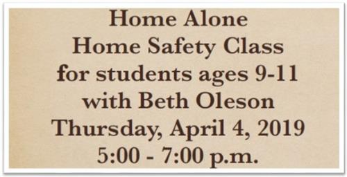 Home Safety Class