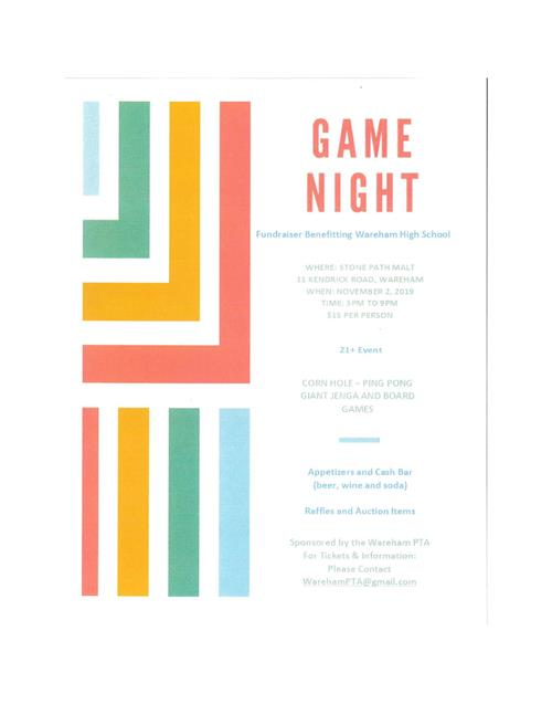 November 2, 2019 - Game Night Fundraiser